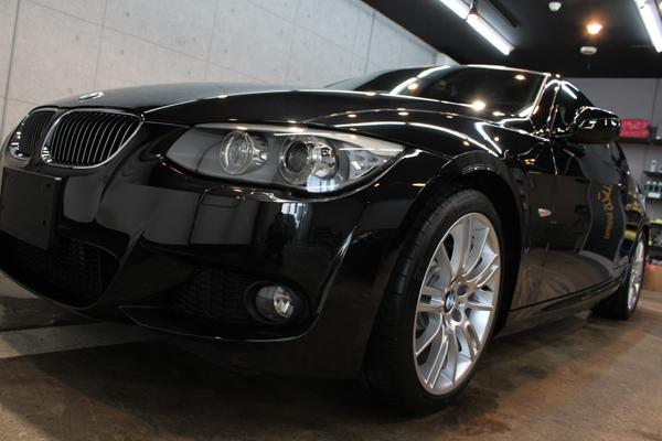 BMW335iクーペ(ブラックサファイア)左前方