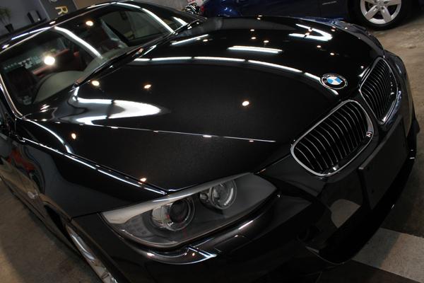 BMW335iクーペ(ブラックサファイア)正面