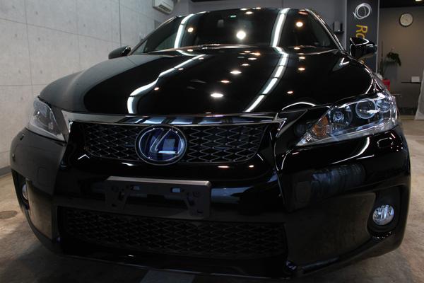 レクサスCT200h Fスポーツ(ブラック)正面
