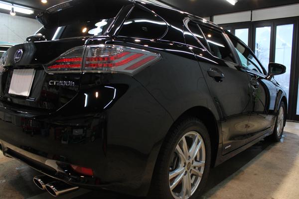 レクサスCT200h Fスポーツ(ブラック)右クォーター