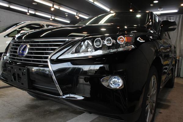 レクサス RX450h(ブラック)左前方