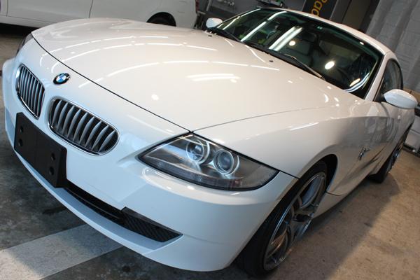ピュアスポーツクーペ BMW Z4coupeのガラスコーティング