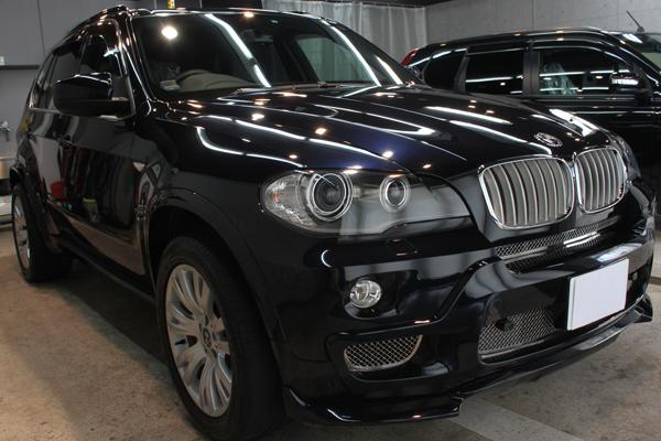 BMW X5(カーボンブラック)右前方