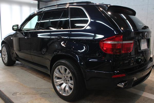 BMW X5(カーボンブラック)左サイド後方