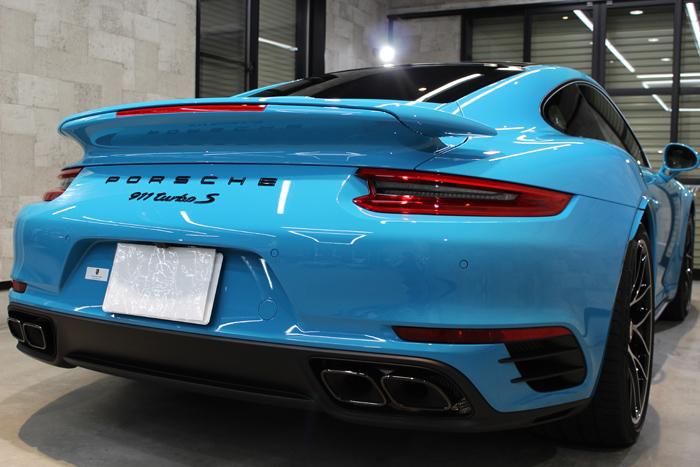 ポルシェ 911 ターボS マイアミブルー リアバンパー2