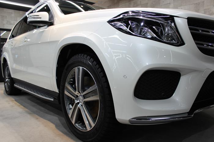 メルセデスベンツ GLS 350d 4マチック スポーツ ダイヤモンドホワイト ヘッドライト