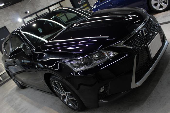 「魅惑のブラックオパールマイカ」レクサスCT200hのカーコーティング