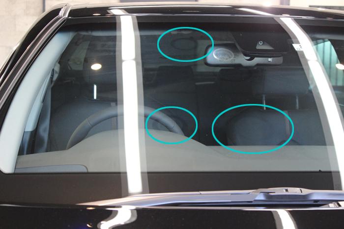 「意外と盲点」新車の窓ガラス