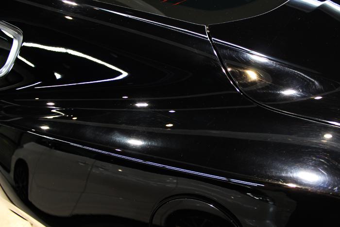 フォード マスタング GTクーペプレミアム ブラック クォーターパネル 施工前