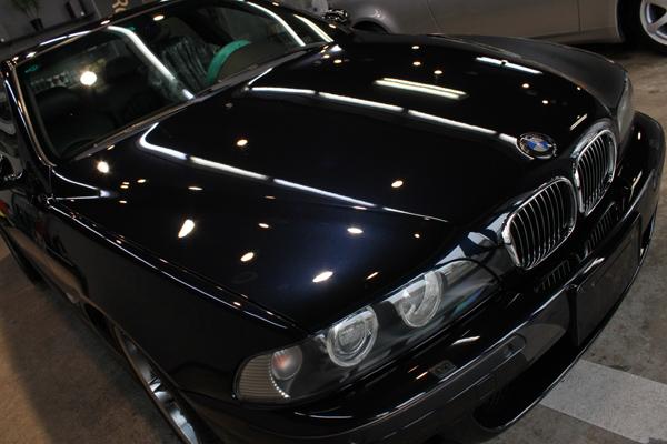BMW M5 (E39) カーボンブラックのコーティングが仕上がりました