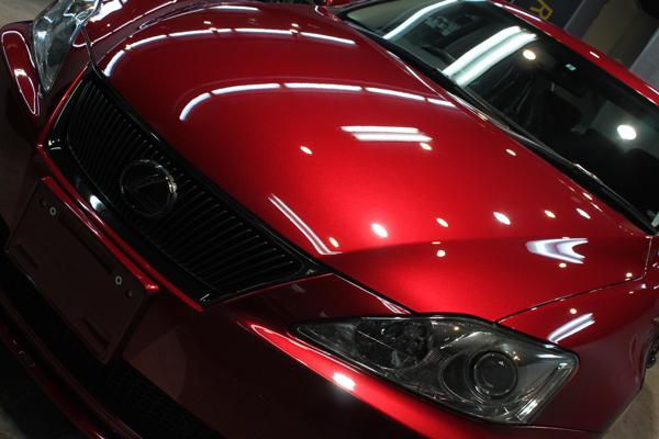 インテリジェントスポーツセダン、レクサスIS350のカーコーティング