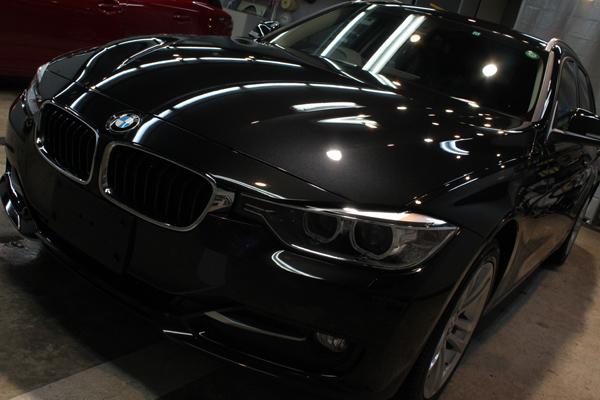 エコだけじゃない、走りも爽快。BMW320d ブルーパフォーマンス ツーリングのガラスコーティング