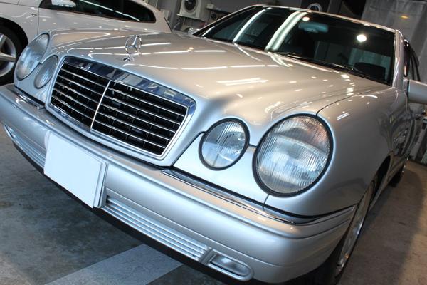 メルセデスベンツ E400(W210)アヴァンギャルドのガラスコーティング
