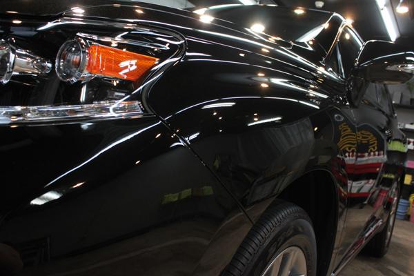 レクサスRX450h(スターライトブラックガラスフレーク)左フェンダ