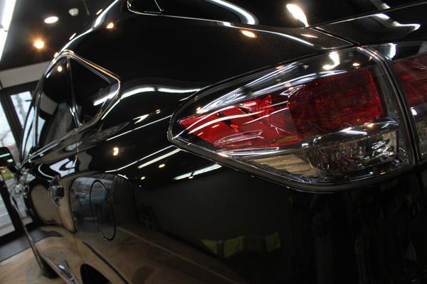 レクサスRX450h(スターライトブラックガラスフレーク)左クォーター