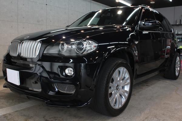 卓越したオンロード性能のSAV、BMW X5のガラスコーティング