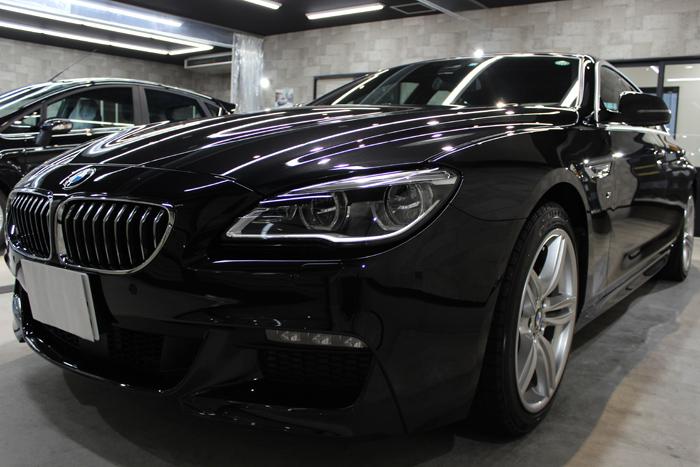 視線を奪う優雅なフォルム。BMW 640iグランクーペのカーコーティング