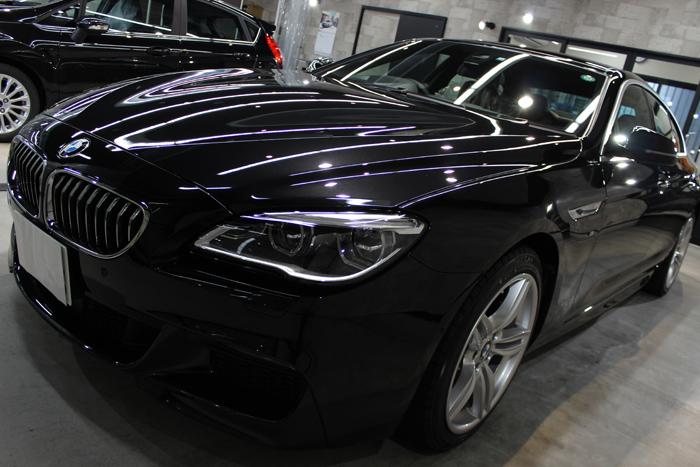 BMW 640i グランクーペ Mスポーツ ブラックサファイア ボンネット1