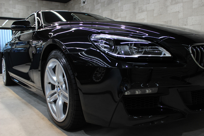 BMW 640i グランクーペ Mスポーツ ブラックサファイア ヘッドライト1