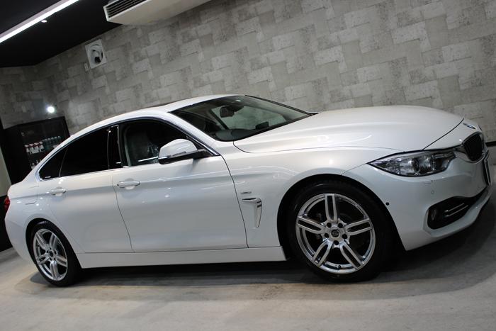 「美しく流麗なボディライン」BMW 4シリーズのガラスコーティング