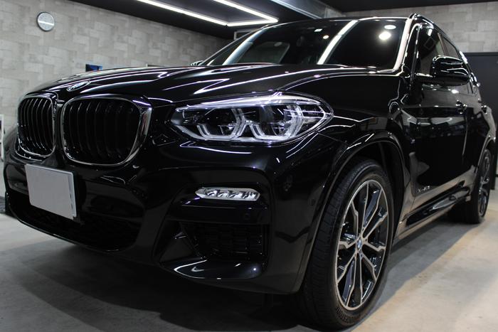BMW X3 xDrive20d Mスポーツ ブラックサファイア ヘッドライト