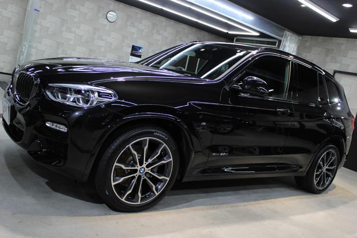 BMW X3 xDrive20d Mスポーツ ブラックサファイア ホイール1