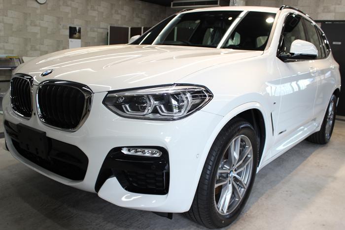 BMW X3 xDrive20i Mスポーツ アルピンホワイト フロントバンパー1