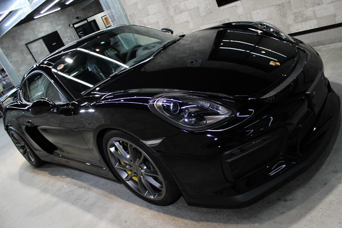 ポルシェ ケイマン GT4 ブラック ヘッドライト