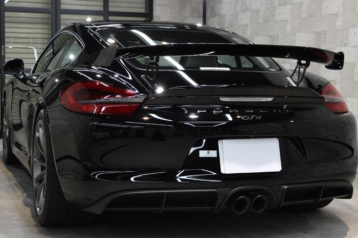 ポルシェ ケイマン GT4 ブラック スポイラー