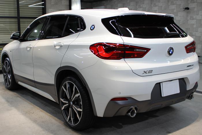 BMW X2 アルピンホワイト リアバンパー