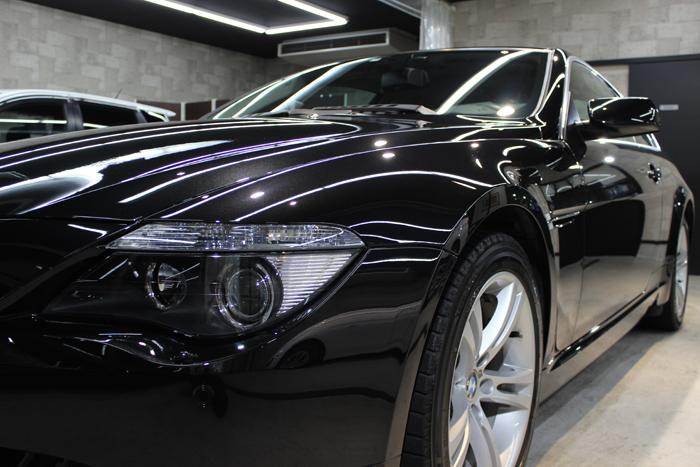 BMW 650i ブラックサファイア ヘッドライト