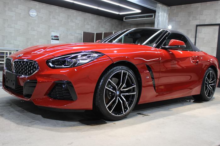 BMW Z4 サンフランシスコレッド ホイール左