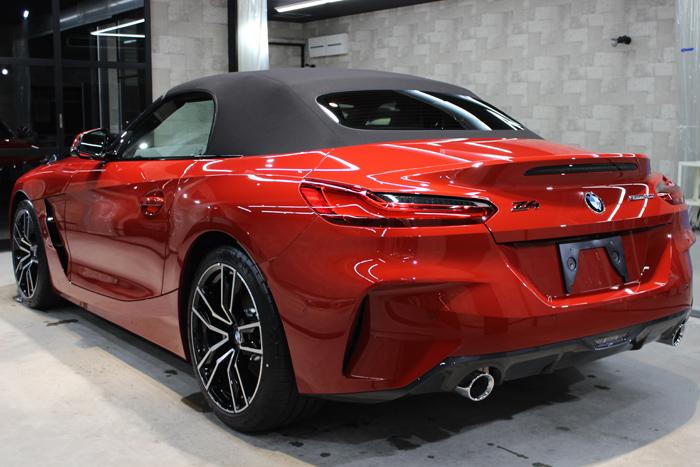 BMW Z4 サンフランシスコレッド リアバンパー左