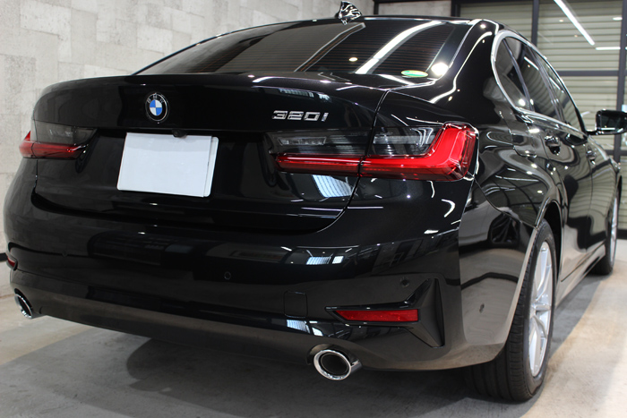 BMW 3シリーズ G20 ブラックサファイア マフラー